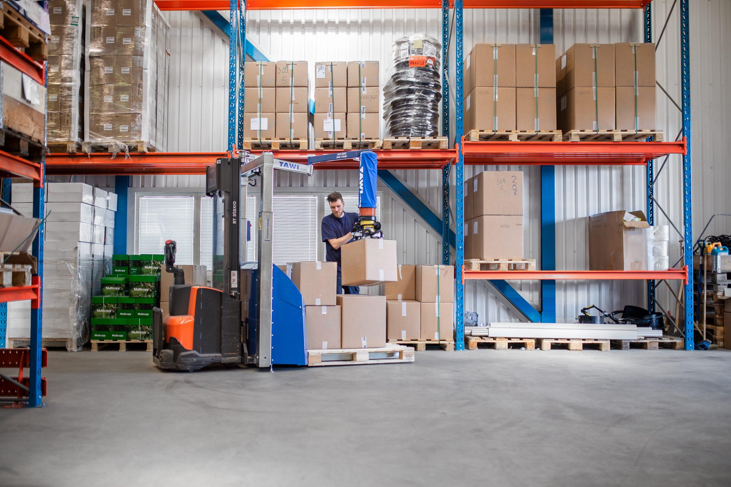 TAWI, Mobile Order Picker, MOP, Logistik, Kartons, Lager, Handhabungstechnik