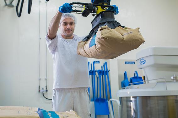 VM 100/120, Schlauchhebegerät, TAWI, Lebensmittelindustrie