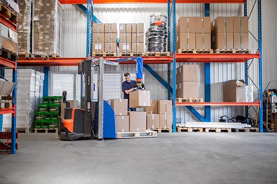 Mobile Order Picker, MOP, TAWI, Logistik, Kartons, Lager, Handhabungstechnik