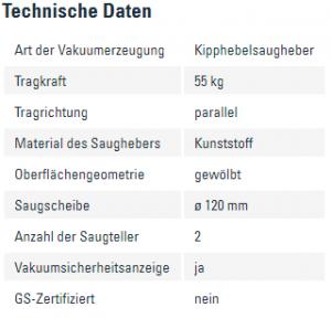 Info, Kipphebelsaugheber