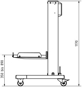Behälter, Hebegerät, Hebegeräte, Heben, HM, 990, Plan, Maße